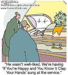 Funeral cartoon - funeral cartoon