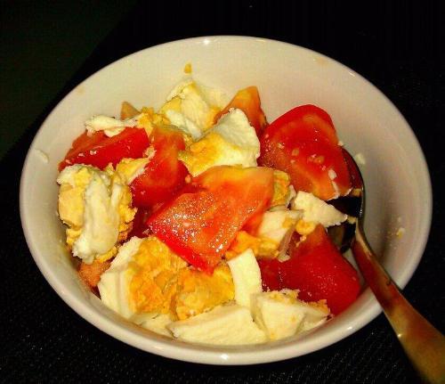 Salted Eggs/Tomato combi - Typical Filipino Dish