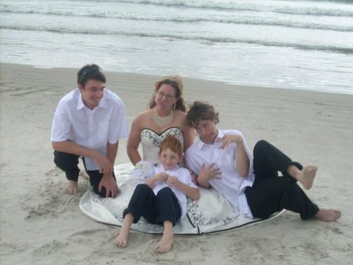 My family - Taken after my wedding to my wonderful husband. Kids and I were acting goofy!