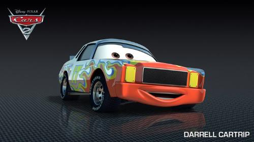 Darrel Cartrip - Voiced by Darrel Waltrip the famous NASCAR driver.