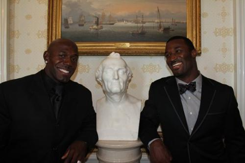 Driver and Jones - Last friday the Green Bay Packers visited the White House. Here is Donald Driver and James Jones.