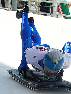 Skeleton - The Winter Olypmic sport. It is like riding the luge head first!