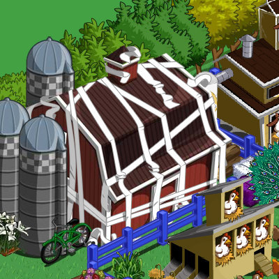 I was pranked! - A Fellow Farmville neighbor of mine toilet papered my barn on Farmville on 4/1/2010! Nice April Fools day to me!
