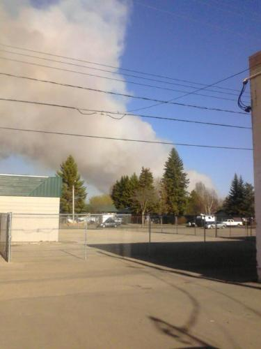 Beginning of Fire - Slave Lake Wildfire that managed to burn almost 60% of our small town population 7500.