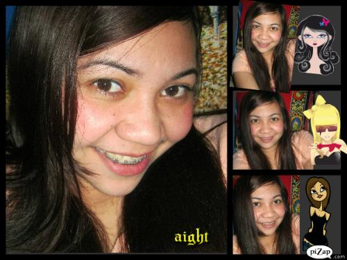 hi..it's me - got nothing to do.. picture! picture!.. then let it be edited by pizap to make it more attractive.. =)