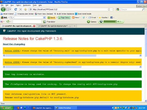 Cakephp Writable Screen - This is a Cakephp writable screen Page. When we have no error in welcome screen then the page like this [page.