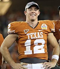 Colt McCoy - Colt McCoy is the starting QB for the Cleveland Browns. Here he is when he was at Texas.