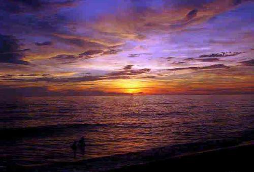 sun - sunset on a beach