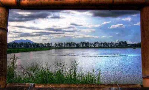lake - a framed lake picture