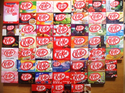 various kitkat flavors - various kitkat flavors. I'm not too sure if it's all from Japan though :D