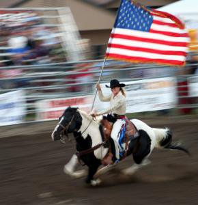 American Pride - Even on horseback we can show are American Pride!