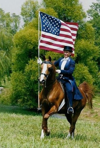 Showing the pride of America! - Even though this country is going through some tough times,I will stand up for her no matter what!