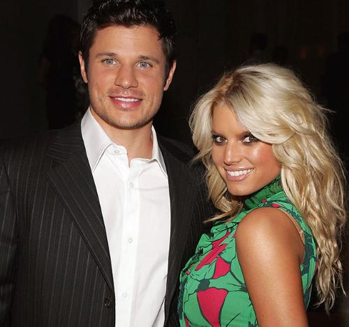 When they were married - This photo was taken when Nick Lachey and Jessica Simpson were married. He is remarried and she is getting remarried!