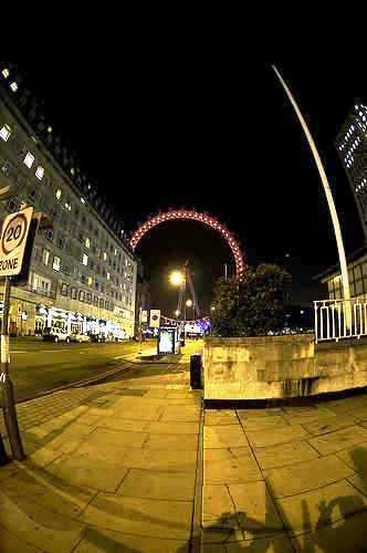 wheel - a ferris wheel on the street of london.