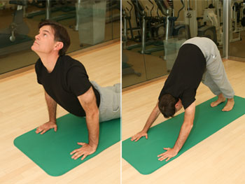 exercising - Dr Oz showed us a GREAT 5 minute yoga exercise - I love it!