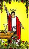 The Magician - This is one of the major arcana cards in a tarot deck.