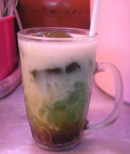 glass of dawet ayu - glass of dawet ayu. so delicious