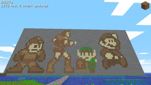 8 Bit Minecraft Characters - A creation of 8-bit characters made in Minecraft.