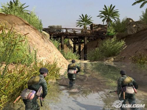 German paratroopers - German paratroopers in Men of War heading to a bridge