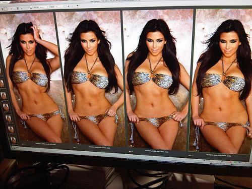 Bikini shot - Kim Kardashian in a bikini.