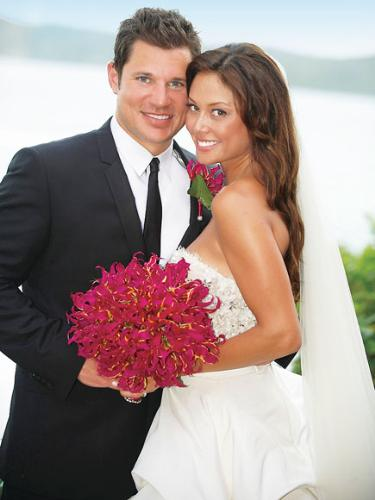 Newlyweds - Nick Lachey married Vanessa Minnillo on 7/15/2011.