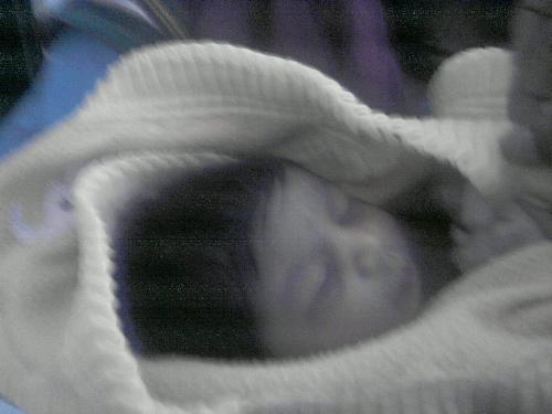 My niece - My niece when she was a few days old :)