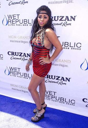 Snooki - Snooki looks like she is wearing a plastic dress that look like she melted herself to get into it! not good!