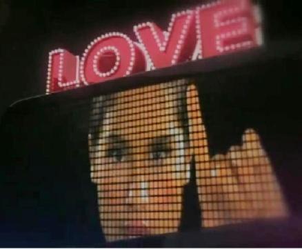 cinta laura on screen - cinta laura on screen and say 'love'