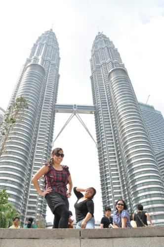 petronas - me and my friends infront of petronas