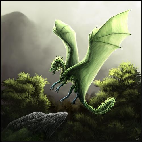 a green dragon - 4 all the fantasy lovers