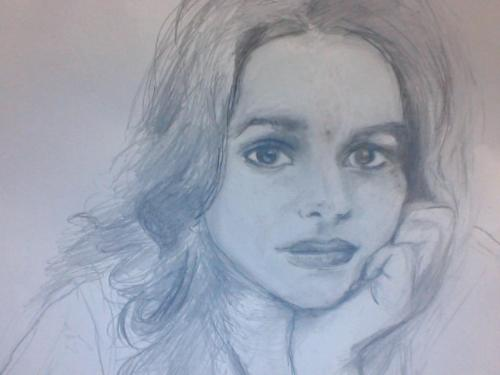 My Norah Jones portrait - 'Come Away With Me' singer that I drew!