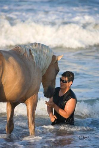 Trust - You can see Ivory pal and his owner trust each other! That is what friendship is!