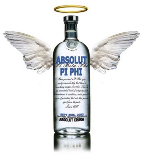 Vodka - Vodka bottle as an angel