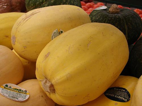 the spaghetti squash - This vegetable tasted like real noodles