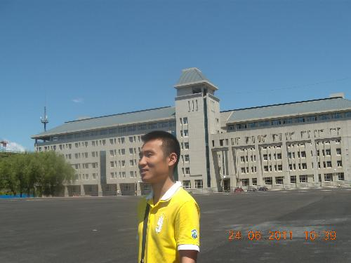 photo and Alma mater  - I take the photo in my Alma mater.In June 24, 2011,my best friend help me take the photo.