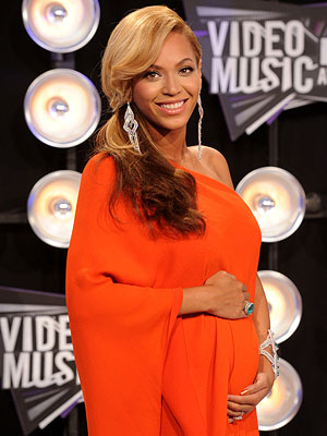 Beyonce - Beyonce and her baby bump! She just announced over the weekend she is expecting with hubby Jay-z! That's cool!