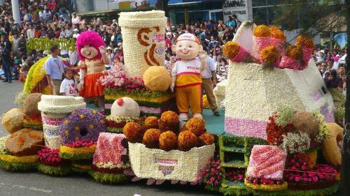 Flower Festival - Dunkin Donuts float