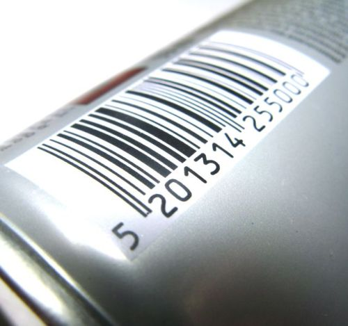 Barcode - barcode on a can