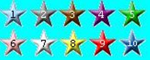 MyLot Star Rating / Reputation - The complete 10-stars of MyLot Star Rating! Have you ever wondered what's the color of XXX star? Well, it is a simple compilation that I made XD