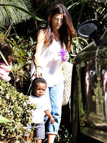 Sandra Bullock - Sandra Bullock with son Lewis.