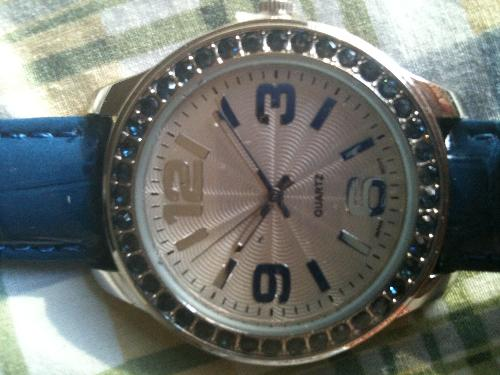My new watch - This is my latest find on the Avon site. It was on sale for $15. Lauren gets half of everything I purchase so I can help her and she doesn&#39;t think of it as charity.