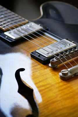 guitar - an old orange guitar