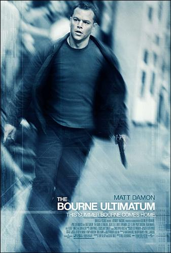 BourneUltimatum Poster - This is a picture of The Bourne Ultimatum, One of the films in the Bourne Series. People may disagree, but A lot of people really enjoy these types of films. If you enjoyed 'taken', you may enjoy this movie