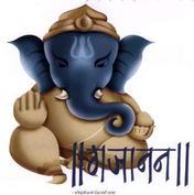 hindu god ganesh - this god has an elephant head, he gives knowledge