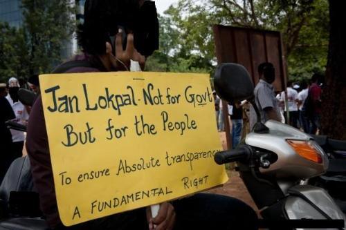Protest Banner - Lokpal protest for corruption.