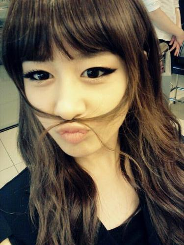 This is me - I try to give some mustache on my face...LOL