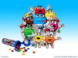 M&Ms - An image of of the lovable and tasty M&M characters. Small M&Ms in a portable bottle to eat along the way.