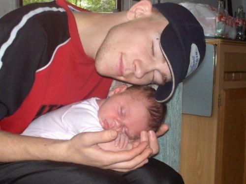 Embracing Life - My Daughter 1 week old