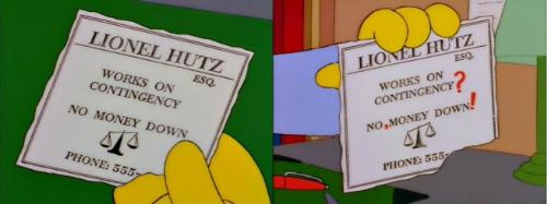 The Simpsons - Ad - Lionel Hutz's advert
