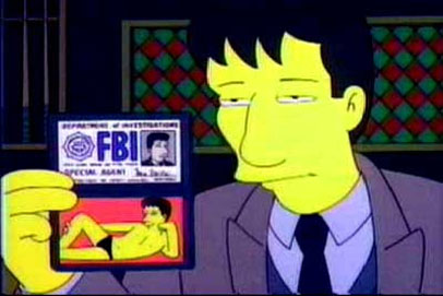 The Simpsons - Mulder - Closer view of Mulder's ID badge